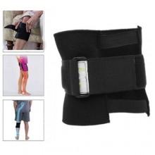 Fascia ginocchio supporto nervo sciatico gamba dolore gambe nero ginocchiera