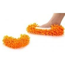 Ciabatte pattine Mop con frange cattura polvere in microfibra ottime per pulizia pavimenti e adattabili a scopa Mop