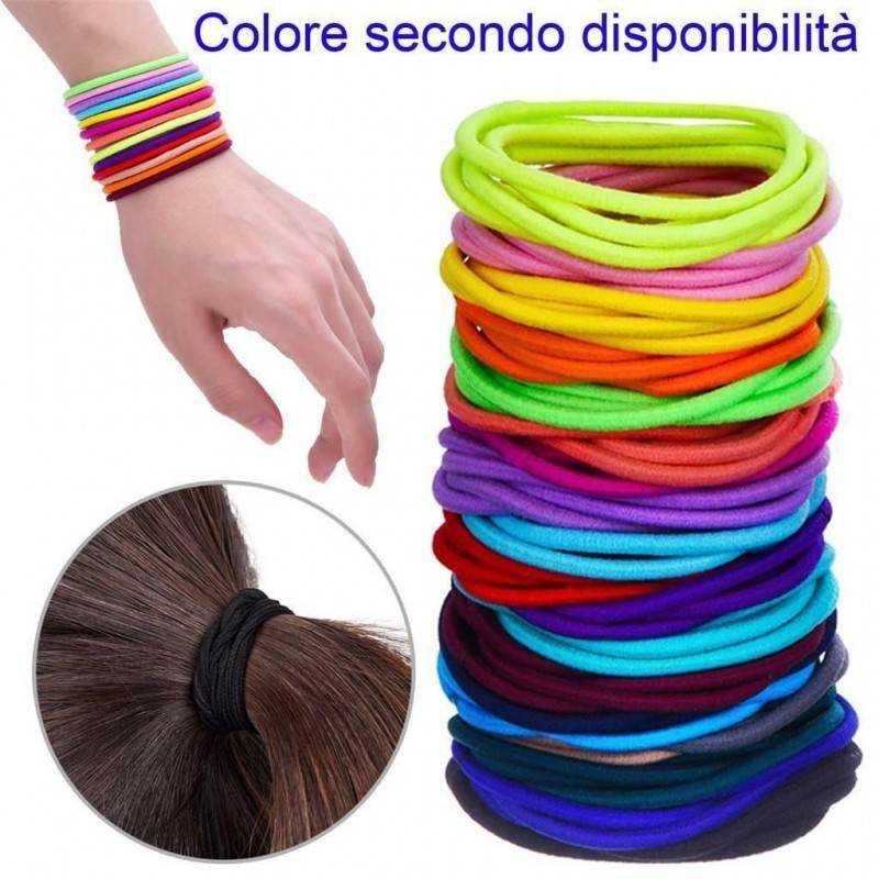 30x Laccetti capelli elastici acconciatura colorati bambine coda treccia stoffa