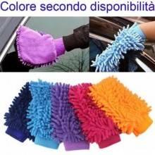2x Guanti lavaggio auto carrozzeria microfibra frange panno macchina moto