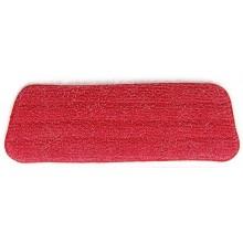 Panno lavabile in microfibra lava pavimenti ricambio per scopa Spray Mop by Tech Star - Rosso