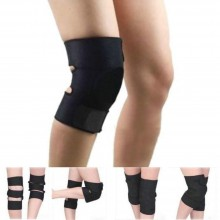 Fascia elastica tutore di protezione per ginocchio anallergica con chiusure a velcro - Ginocchiera per sport nera