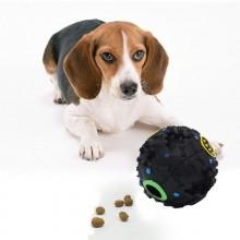 4x Pallina giocattolo gatti cani sonaglio colorato intrecciato animali domestici