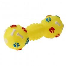 4x Pallina giocattolo gatti cani fischietto aria animali colorata muso cagnolino