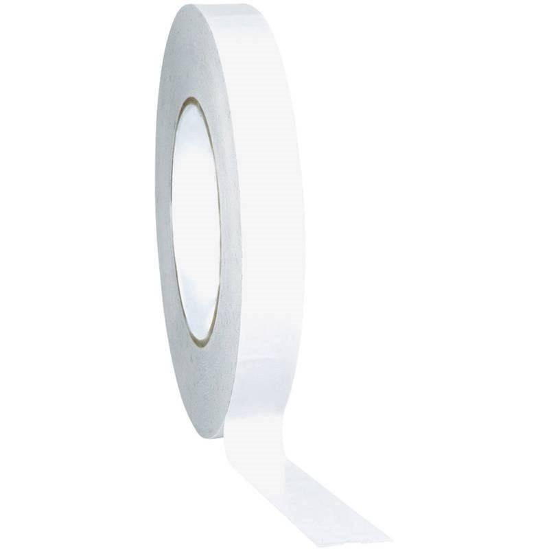 36x Nastro biadesivo trasparente 25X10 36 pezzi imballaggio pacchi bianco