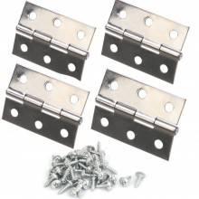 4x Cerniere libretto porte acciaio viti incluse cancello 5,80 cm ferramenta