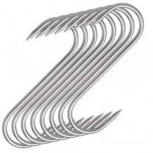 4x Ganci S senza punta acciaio lavoro officina utensile cucina casa 8 cm