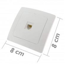 2x Presa muro RJ11 telefono linea plastica bianco casa connettore clip fisso