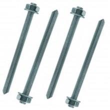 6x Barre filettate metalliche bulloni rondelle incluse fissaggio M10 12 cm