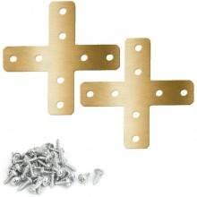 12x Staffe T fai da te mensole acciaio fissaggio viti incluse legno 30 x 14 mm