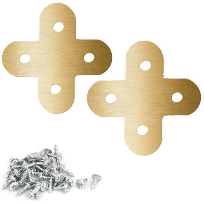 6x Staffe croce fai da te acciaio fissaggio viti incluse legno 100 x 20 mm
