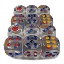 16 dadi bianchi D6 lati gioco poker giochi da tavolo oca dado plastica cubo