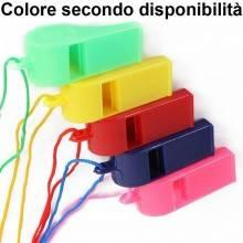 6x Fischietto plastica arbitro calcio sport colorato fischio fischietti laccetto