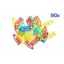 400 Fermagli attaché 100 grandi e 300 piccoli colorati fogli documenti graffette