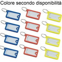 12 Portachiavi etichetta identificativa plastica colorati anelli nome chiavi