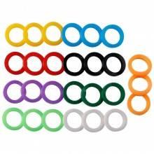 18x Coprichiave anello coperchio silicone chiavi chiave copertura cappuccio