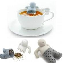 Mr. Tea infusore filtro colino te the in silicone alimentare e inodore per tisane a forma di omino a bagno nella tazza