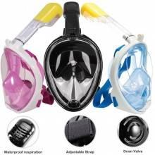 Maschera subacquea integrale snorkeling montatura action cam SUB immersione mare