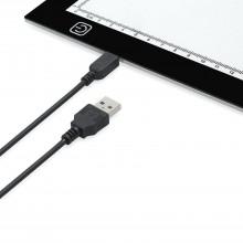 Tavola luminosa da disegno ricalco foglio A4 pad luminoso lavagna cavo USB LED