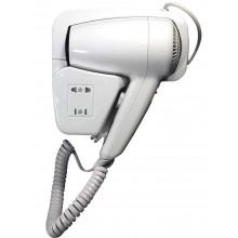 Phone asciugacapelli verticale da parete 1200 watt versione hotel due velocità aria calda - Bianco