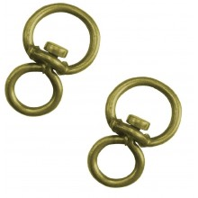 2x Givolari Abruzzo colore ottone acciaio anelli rotanti ganci 9cm anello gancio