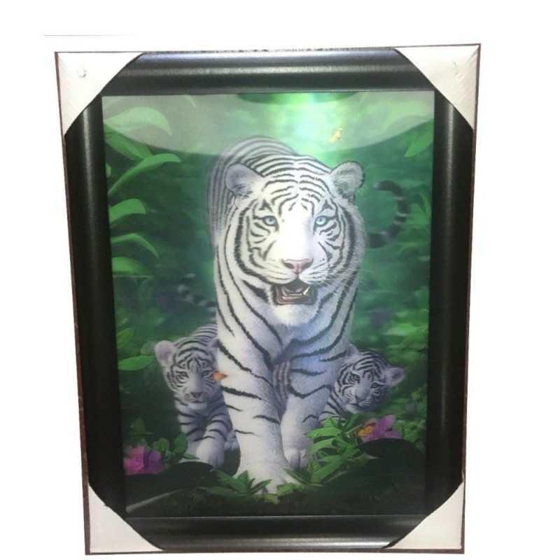 Quadro 3D lenticolare arte arredamento casa effetto profondità stampa tigre