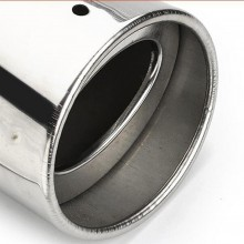 Scarico ovale singolo marmitta terminale auto codino cromato tuning acciaio