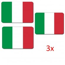 3x Tappetini mouse bandiera Italia tricolore verde bianco rosso PC ufficio casa