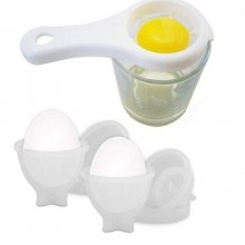 6x stampi uova sode silicone coperchio contenitori bollite cucina no guscio