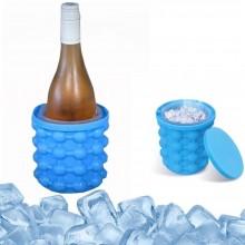 Contenitore ghiaccio raffredda bottiglia lattina bevande secchio silicone blu
