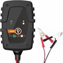 Caricabatterie caricatore mantenitore auto moto morsetti batteria 8 fasi cavetti