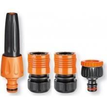 2 Annaffiatoio tubo irrigazione orto prato vasi ugello vari getti attacco rapido
