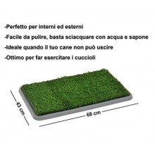 Lettiera MAXI wc per cani e gatti cuccioli di media taglia con erba sintetica assorbente ottima per addestramento Potty Patch