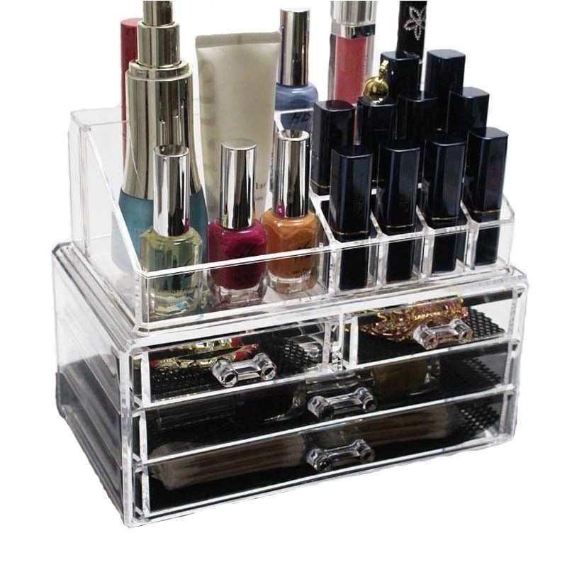 Organizzatore 4 portatrucco trucchi cosmetici box trucco make up donna 18286