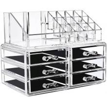 Organizzatore portatrucco cosmetici box trucchi make up donna specchio 18285