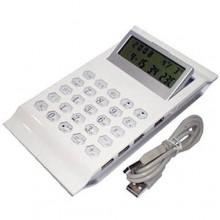 Calcolatrice scuola ufficio con Hub USB multipresa display reclinabile calcoli