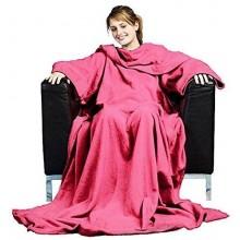 Coperta plaid maniche pile 180 X 137 cm vari colori calda inverno casa coperte