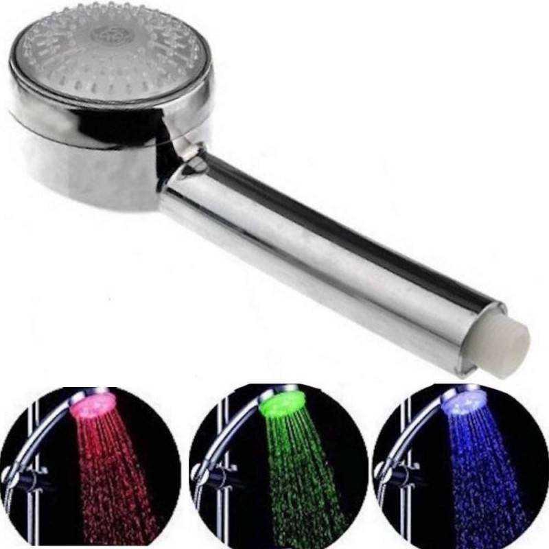 Soffione telefono Doccia colorato LED con sensore di temperatura 3 differenti colorazioni