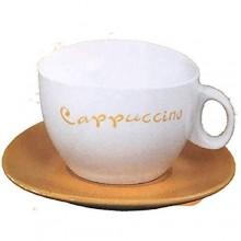 Set colazione 2x tazze da cappuccino 2 piattini scatola latta quattro colori