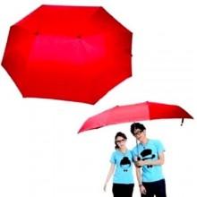 Ombrello DOPPIO per 2 persone con manico a C formato XXL umbrella con fodera