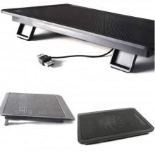 """Base di appoggio e raffreddamento per PC portatili (14"""" max) con ventola silenziosa alimentata tramite USB e piedini di rialzo"""