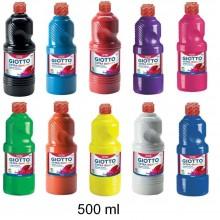 2x Tempera pronta GIOTTO 500 ml colore intenso liquida bambini scuola gioco