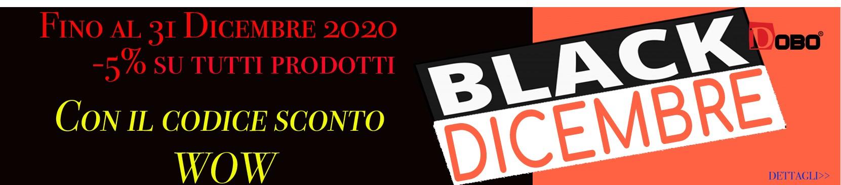 Black Dicembre di DOBO.it- Sconti e promo fino al 31 dicembre 2020