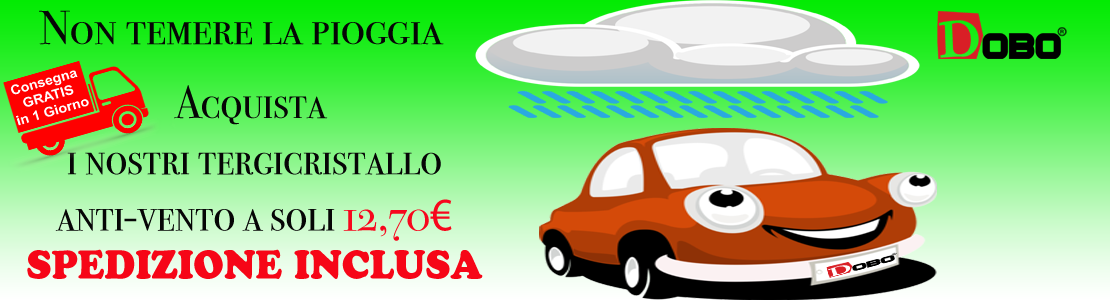 Scopri i nostri tergicristallo anti vento con spedizione gratis a soli 12,70€. rinnova la tua auto con DOBO.it